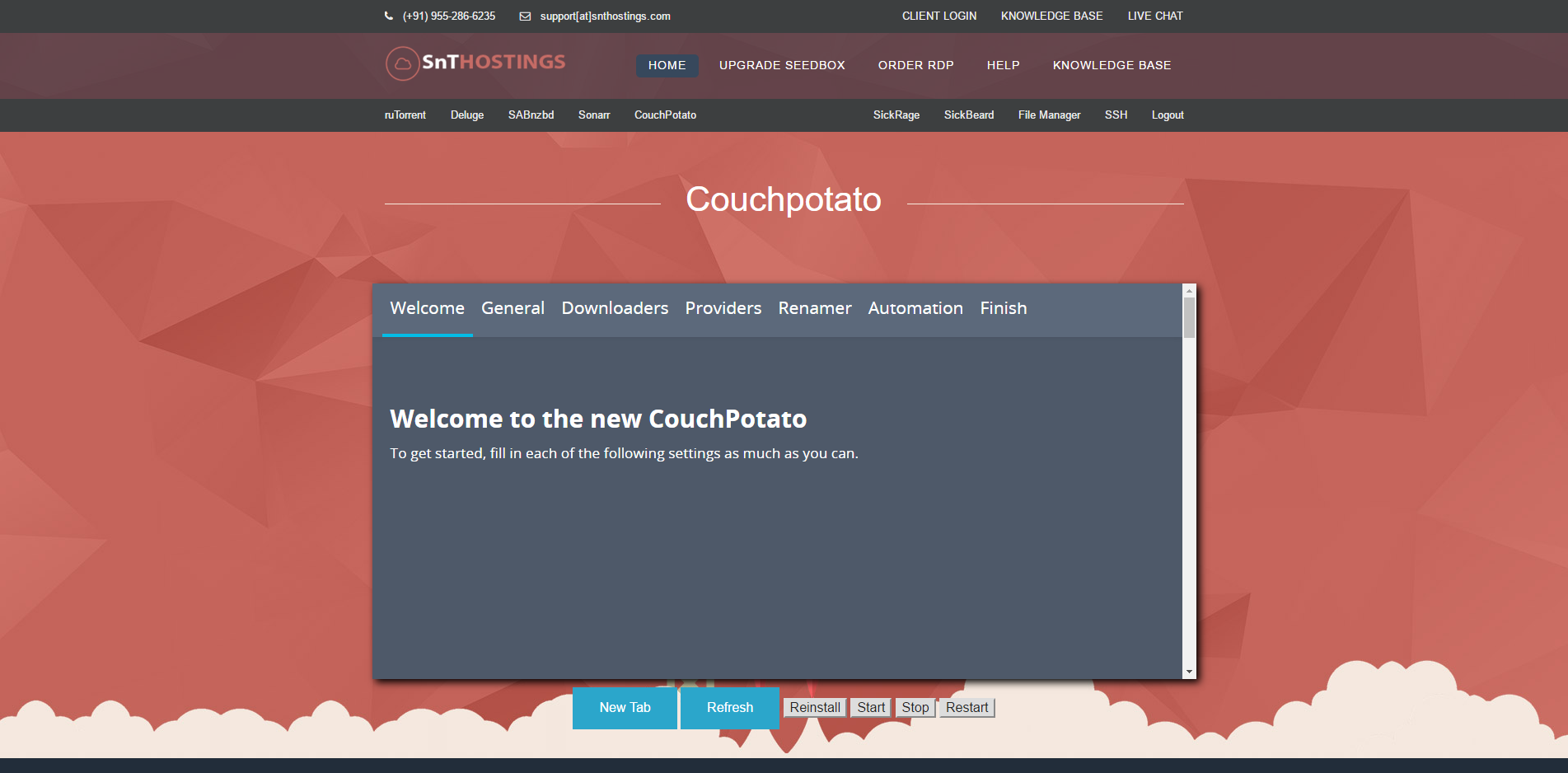 How to configure CouchPotato? - Knowledgebase - SnTHostings || Cheap